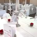 Unser Festsaal mit Hochzeitsdekoration